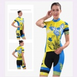 Quick Dry Colorful Womens Cycling Wear