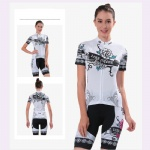 Women White Cycling Jersey
