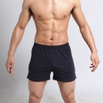Men Running Sports Black Shorts