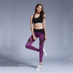 Purple Breathable Yoga Pants