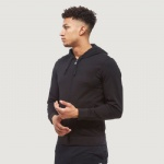 100% Polyester Black Fitness Hoodies