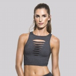Black Foot Race Sports Bra